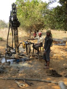 Well Drillers At Work - Jatapara, India