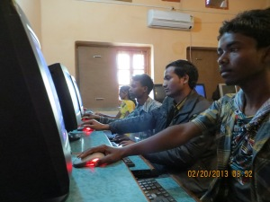 Student at Computers w. others