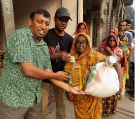 GHNI-Food Distribution, post-flooding