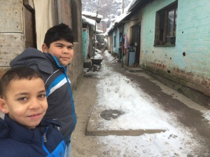 Gypsy-Roma Boys In Their Home Village - Lebane, Serbia