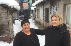 Snezana(right) in Lebane(village), Serbia