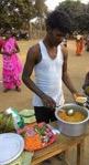 Bablu - selling chickpeas