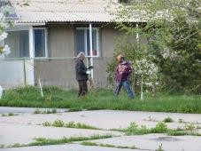 Abraham & Haig working on HoE landscape/garden prep - Spitak, Armenia