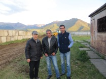 Vince w/ landscape crew ... grating for the 2x barns/storage buildings - Spitak, Armenia
