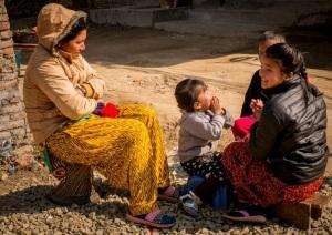 Mom & Girls - Nepal Village